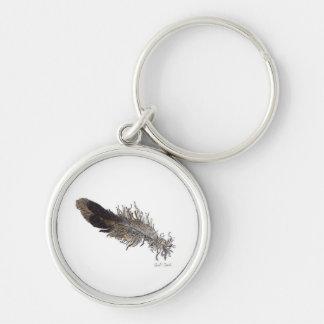 Small Bird Feather Keychain