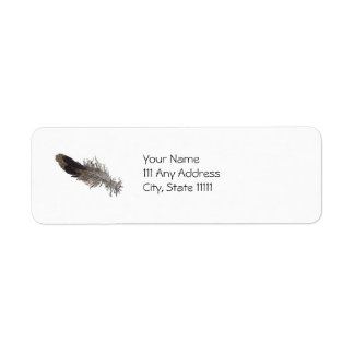 Small Bird Feather Label