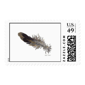 Small Bird Feather Stamps