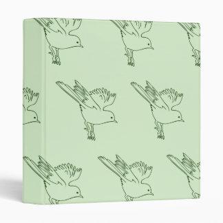 Small Bird Green Binders