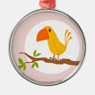 small bird metal ornament
