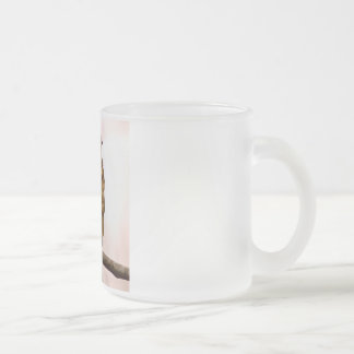 Small Bird On Tree Branch Photo Frosted Glass Coffee Mug