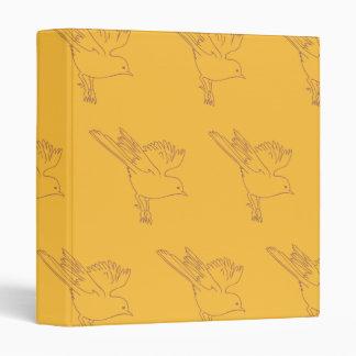Small Bird oranges Vinyl Binder