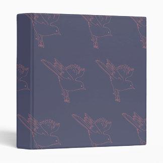 Small Bird purple red Vinyl Binder
