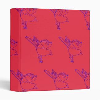 Small Bird red blue Vinyl Binders