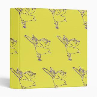Small Bird yellow purple Binders