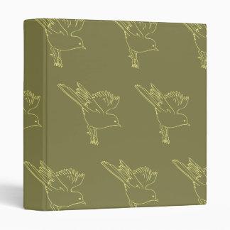Small Bird yellows Vinyl Binder