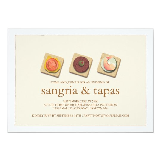 Sangria Wedding Invitations: Small Bites Trio Sangria & Tapas Party Invitation