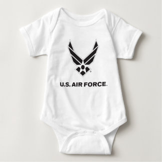 Small Black Air Force Logo with Outline Tee Shirt