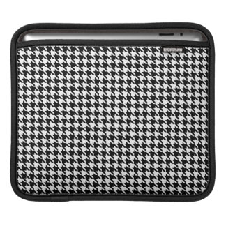 Small Black and White Houndstooth iPad 3 Sleeve
