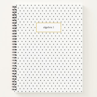 Small Black and White Polka Dot Subject Notebook