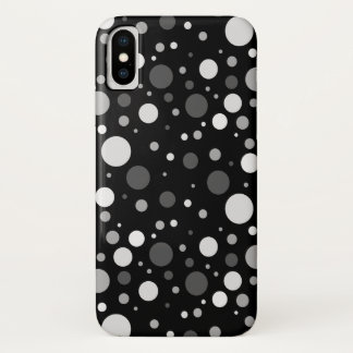 Small Black and White Polka Dots iPhone X Case