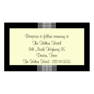 Small Black and White Wedding enclosure cards Double-Sided Standard Business Cards (Pack Of 100)