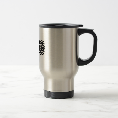 Small Black Brick Love Coffee Mug