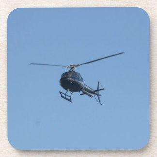 Small black helicopter. drink coaster