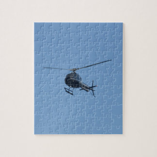 Small black helicopter. jigsaw puzzle