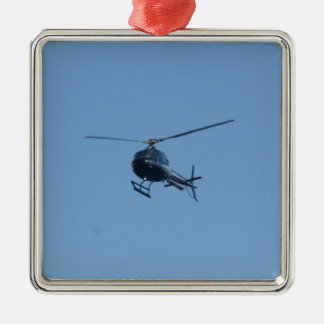 Small black helicopter. metal ornament