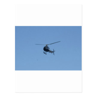 Small black helicopter. postcard