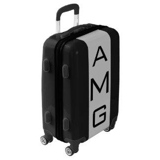 SMALL Black + Light Gray Monogram Carry On Luggage