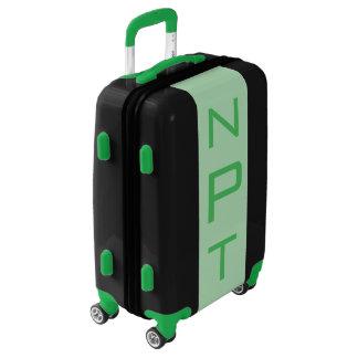 SMALL Black + Light Green Monogram Carry On Bag Luggage