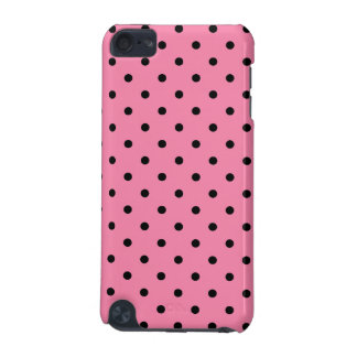 Small Black Polka Dots on hot pink iPod Touch 5G Cover