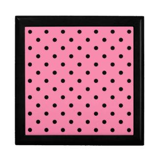 Small Black Polka Dots on hot pink Gift Box