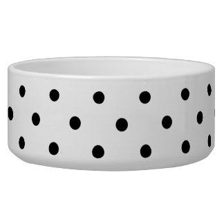 Small Black Polka dots white background Bowl