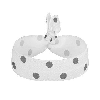 Small Black Polka dots white background Hair Tie