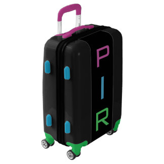 SMALL Black+Purple+Blue+Green Monogram Carry On Luggage