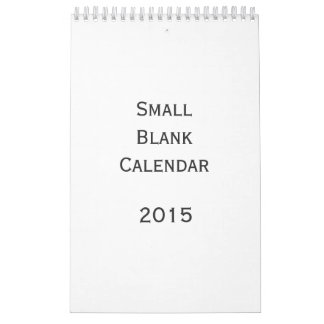 Small Blank Calendar 2015 - You Can Personalize It
