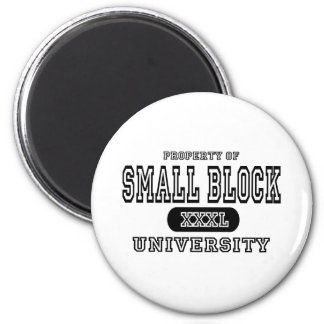 Small Block University Magnet