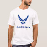 Small Blue Air Force Logo with Outline T-Shirt