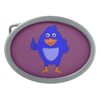 Small blue bird custom belt buckles