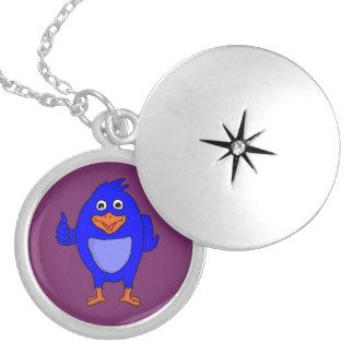 Small blue bird custom lockets