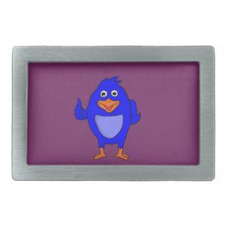 Small blue bird design custom belt buckles