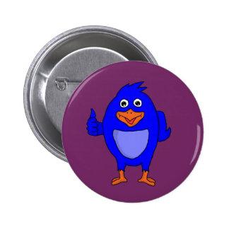 Small blue bird design custom buttons and badges