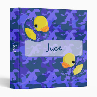Small Blue Camo Rubber Ducky Binder