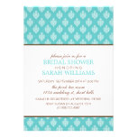 Small Blue Damask Bridal Shower Personalized Announcement