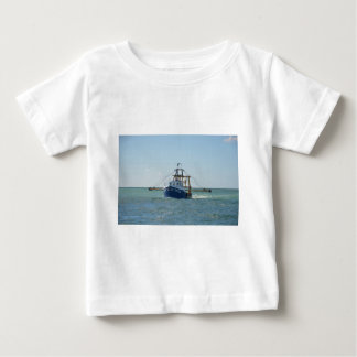 Small Blue Fishing Boat Baby T-Shirt