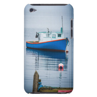 Small Blue Fishing Boat iPod Case-Mate Cases