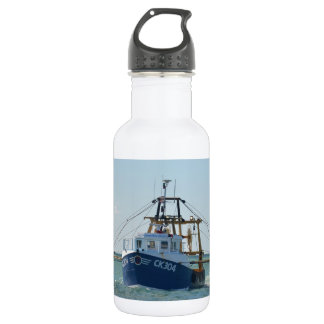 Small Blue Fishing Boat Water Bottle