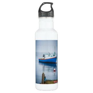 Small Blue Fishing Boat Water Bottle