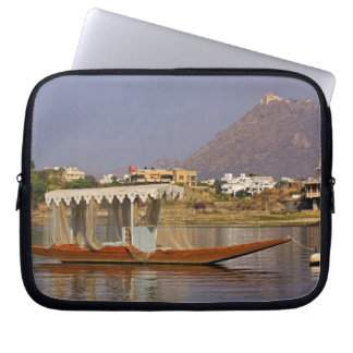 Small boat, Lake Pichola, Udaipur, India. Laptop Sleeve
