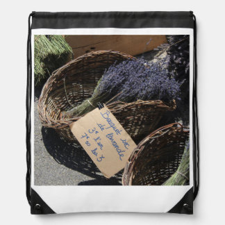 Small bouquets of lavender drawstring bag