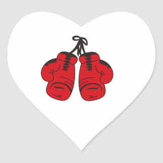SMALL BOXING GLOVES HEART STICKER