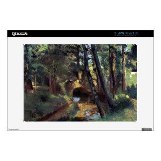 Small bridge of Pontoise by Camille Pissarro Laptop Skins
