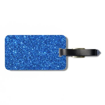 Halloween Themed Small Bright Blue Glitter Sparkles Bag Tag