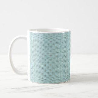 Small Brown Polka Dots On Blue Background Coffee Mug