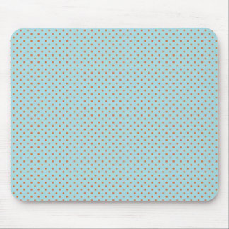 Small Brown Polka Dots On Blue Background Mouse Pad