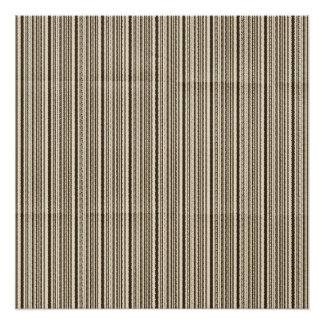 Small brown stripes creased poster